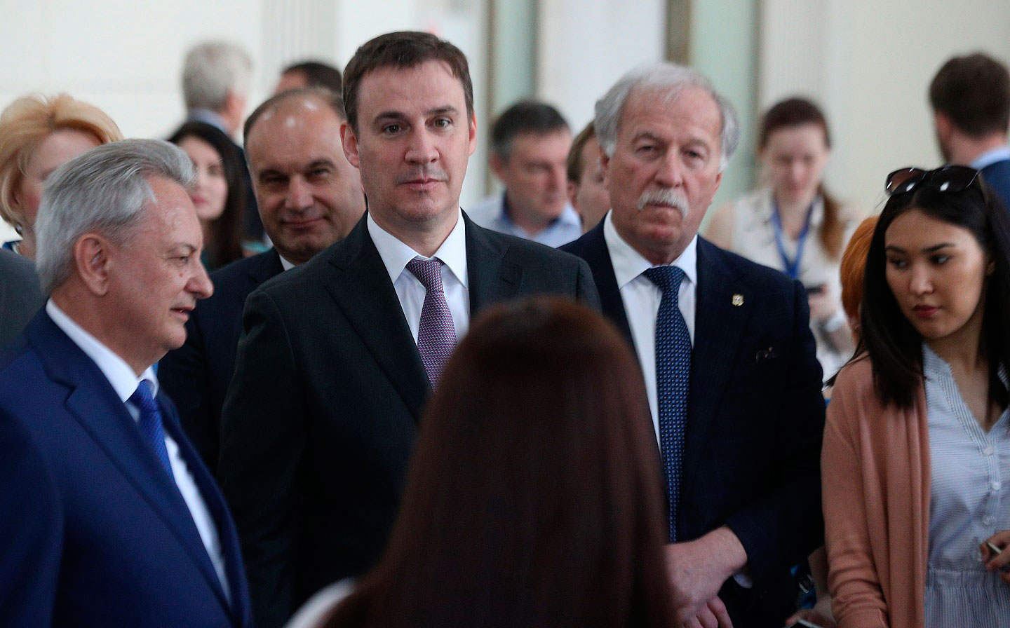 Dmitry Patrushev attends the agricultural industry exhibition