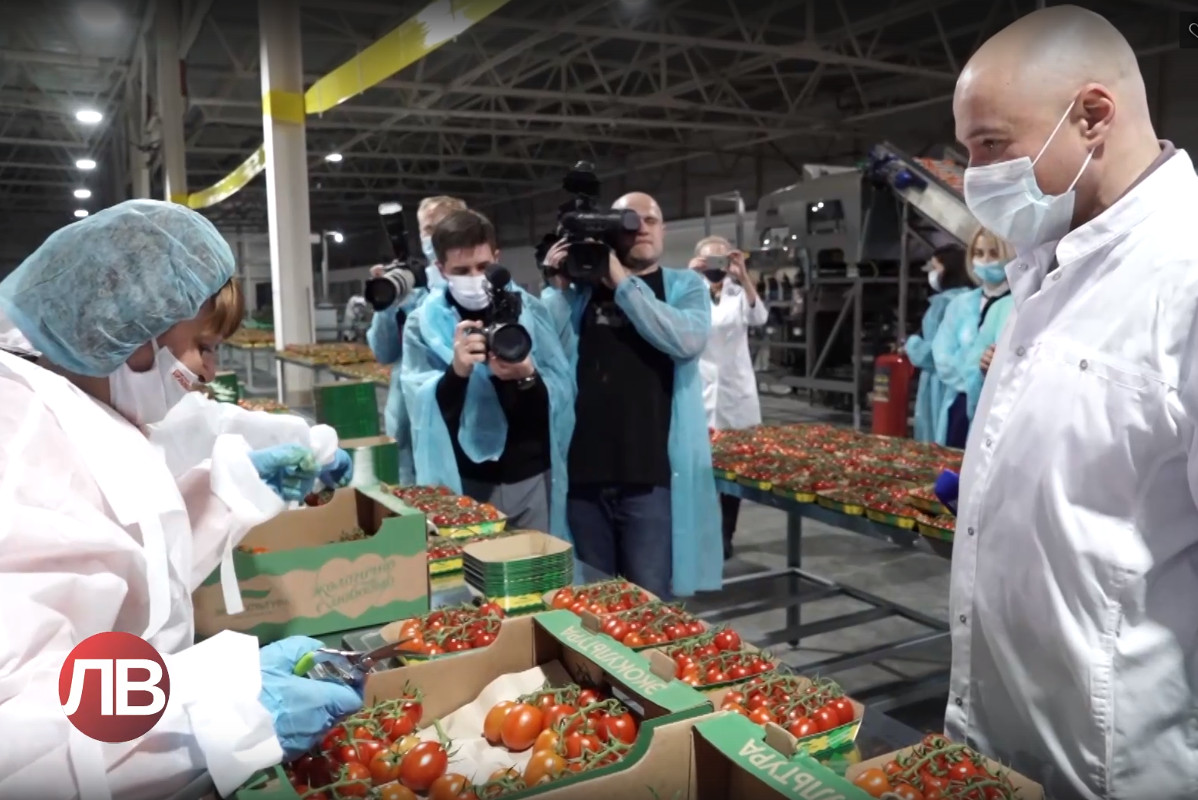 "The governor of Lipetsk oblast visited ""Ovoschi Chernozemya"" greenhouse complex and checked the sanitary safety at the enterprise"